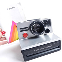 Vintage Polaroid Camera -  Polaroid Pronto B with Original Instruction Manual / 1970s Instant Photography