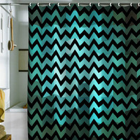 DENY Designs Home Accessories | Madart Inc. Black Chevron Romantic Evening Shower Curtain