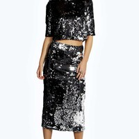 Lana Sequin Midi and Top Co-Ords Set