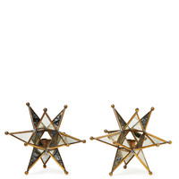 Small Marcel Star Tapered Candleholders