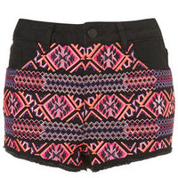 MOTO Fluro Embroidered Shorts - Shorts  - Clothing