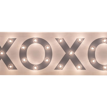Marquee Light-Up XOXO Sign Signs