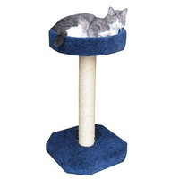 "Molly and Friends ""Feline Recliner"" Premium Handmade One Tier Sisal Cat Scratching Post..."
