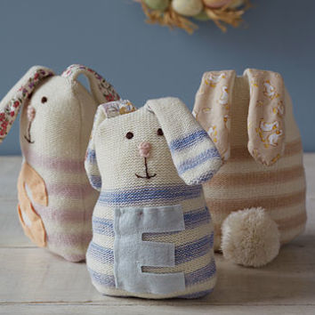 Personalised Striped Rabbit