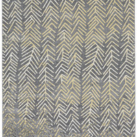 Life Collection Power Loomed Polypropylene Area Rug in Granite design by BD Fine