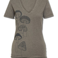 NEW! Mushrooms Women's V-Neck T-Shirt: Soul-Flower Online Store