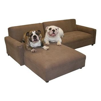 BioMedic Pet Modular Sectional Dog Sofa Fabric Faux Leather