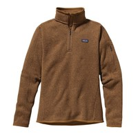Patagonia Women's Better Sweater® 1/4-Zip Fleece Pullover | Bear Brown