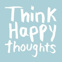 Think Happy Thoughts Art Print by TypePosters on Etsy