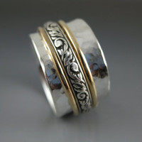 Triple Mixed Metal Spinner Ring