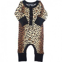 Leopard Skin Long Sleeve Playsuit $32