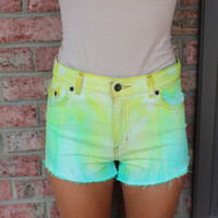 tiedyed high waisted shorts