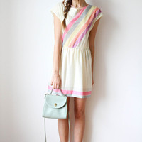 tea and tulips boutique - one of a kind vintage. — a vintage rainbow dress