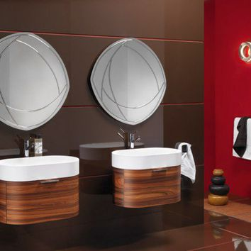 red turquoise bathroom accessories from