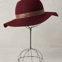 Partridge Floppy Hat by Anthropologie Wine One Size Scarves