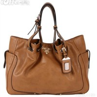 iOffer: Classic Prada Siegel Leather Shoulder/ Handbag for sale