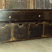 48 Inch wide SHABBY CHIC TV Cabinet Entertainment by usacreations