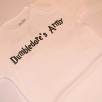Dumbledore's Army Onesuit. Harry Potter Inspired. Can Be Customized By Size.