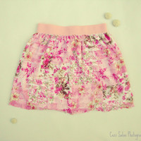 Blush Garden Ruffle Skirt by One Last Stitch made to order in sizes 2T-4T, CUSTOM ORDERS for additional sizes also available.
