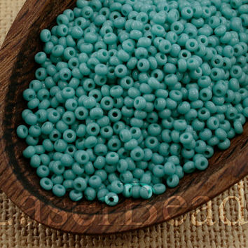 Czech Seed Beads size 110 20g Opaque Turquoise Blue Preciosa