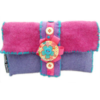 Purple Felt Purse/glasses Case on Luulla
