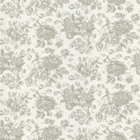 Sample of Pavot Floral Toile Wallpaper in White by Brewster Home Fashions
