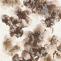 Sample of Floral Trail Wallpaper in Brown and White design by BD Wall - Default