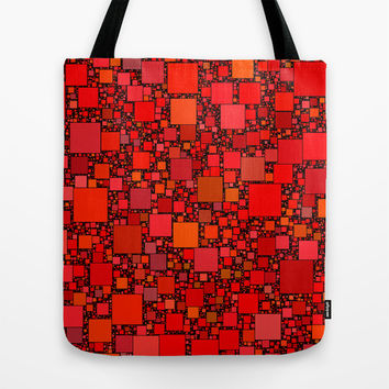 Post It Red Tote Bag by Alice Gosling