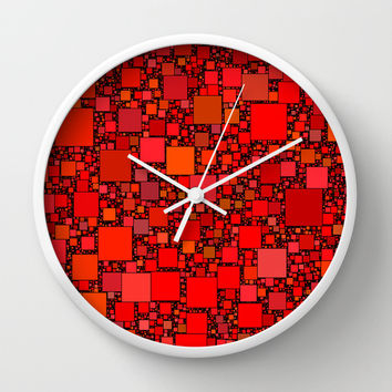 Post It Red Wall Clock by Alice Gosling