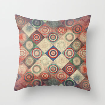 Vintage  Throw Pillow by SensualPatterns
