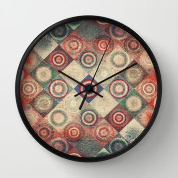 Vintage  Wall Clock by SensualPatterns