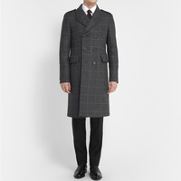 Burberry London - Slim-Fit Prince Of Wales Check Wool and Cashmere-Blend Overcoat   MR PORTER