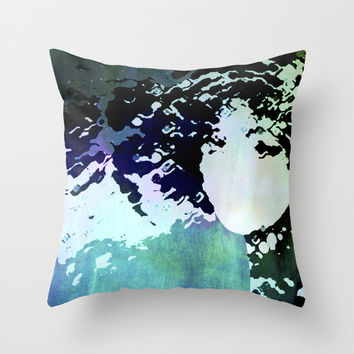 LADY-SILEX-2 Throw Pillow by Pia Schneider [atelier COLOUR-VISION]