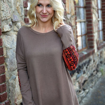 Adobe Patch Tunic {Mocha}
