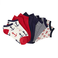 Anchor Print Sock Pack