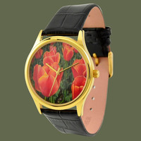 Flower watch (Tulip gold)