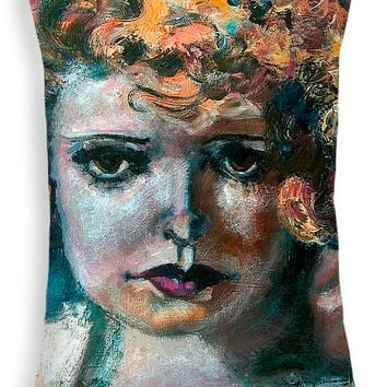 "Clara Bow Throw Pillow 20"" x 14"""