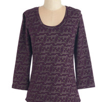 ModCloth Critters Mid-length Long Sleeve Fox Folklore Top