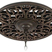 "Open Scroll 16"" Wide Bronze Ceiling Medallion 