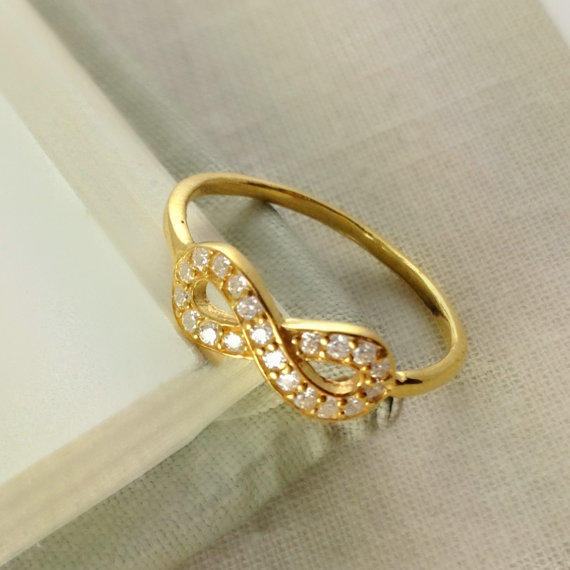 Gold Infinity Ring, Best Friend Gift, From
