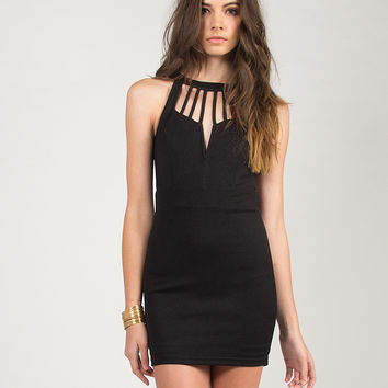 Wired Strappy Dress - Black /