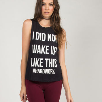 I Did Not Wake Up Like This Top - Black - Black /