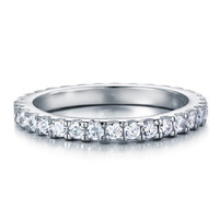 Sterling Silver Eternity Ring Band -