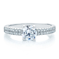 Sterling Silver Simulated Diamond Ring - Oval Ring