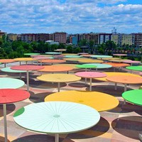 Rainwater recycling umbrellas-beautiful!