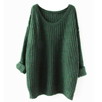 Partiss Womens Loose Fit Pullover Sweater