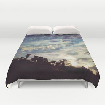 Constructing Tomorrow Duvet Cover by Ben Geiger