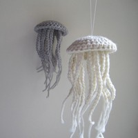 Medium Moon Jellyfish in Unbleached Merino Wool by awkward on Etsy
