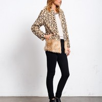 GROWL POWER FAUX CHEETAH COAT
