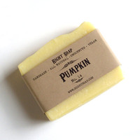 Pumpkin Soap - Sensitive skin soap, Antioxidant Soap, All Natural Vegan Soap, Unscented Soap